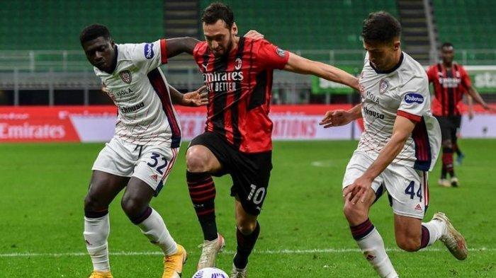 Hasil Liga Italia AC Milan Vs Cagliari, Hasil Imbang Buat Rossoneri Batal Kunci Posisi Empat Besar