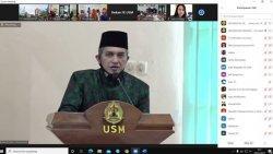 Gelar Halal Bihalal, Rektor USM Minta Civitas Akademika Patuhi Protokol Kesehatan