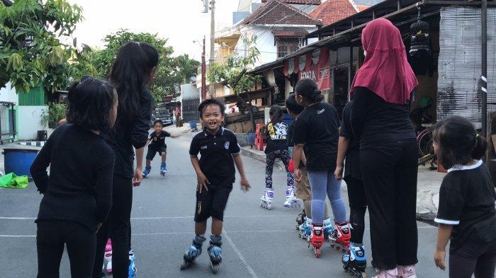 Menengok Latihan Anak-anak di Kampung Sepatu Roda Batan Timur Raya Kota Semarang