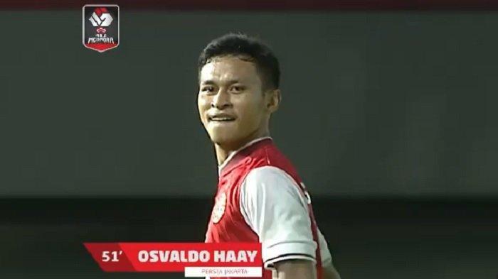 Cuplikan Gol Osvaldo Haay Saat Persija Jakarta Unggul 1-0 Atas Persib Bandung di Final Piala Menpora