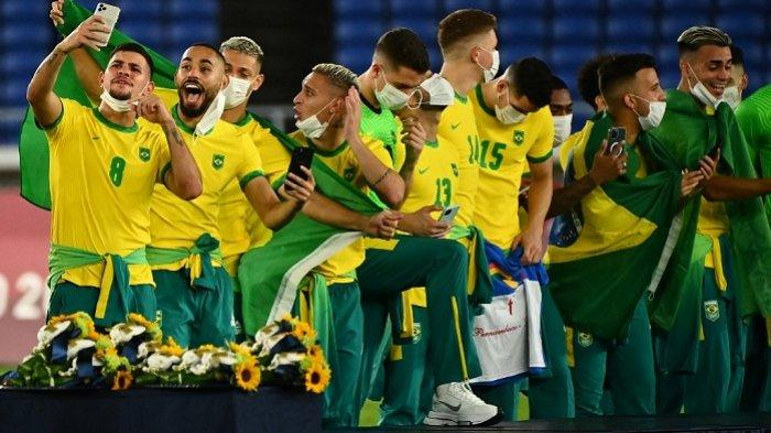 Hasil Final Sepak Bola Olimpiade 2021, Brasil Pertahankan Gelar Juara Setelah Tumbangkan Spanyol