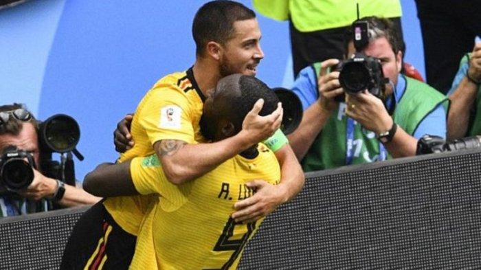 Hazard dan Lukaku Incar Gawang Jepang, Ini Susunan Pemainnya