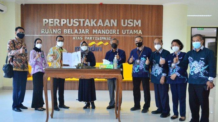 Bank Mandiri Bantu Pengadaan Perpustakaan USM Semarang