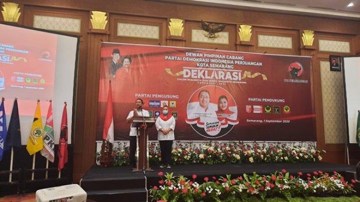 Hendi-Ita Jumatan di Masjid Baiturrahman Sebelum Mendaftar ke KPU Kota Semarang