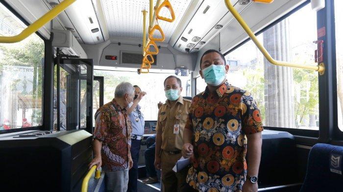 Hendrar Prihadi Jajal Bus Listrik Semarang, Energi dari Baterai Bisa Tempuh Jarak 300 Kilometer