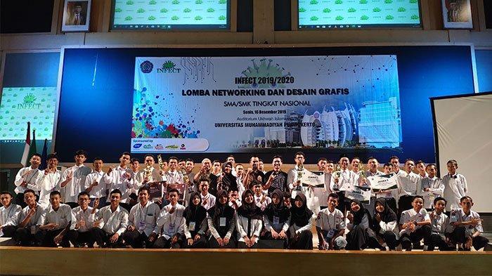 HMPS-TI UMP Purwokerto Gelar Lomba Desain Grafis dan Networking bagi Siswa SMK