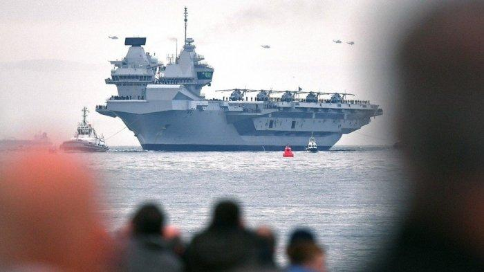 Kapal Induk Inggris HMS Queen Elizabeth Sudah Tiba di Singapura, Abaikan Ancaman China
