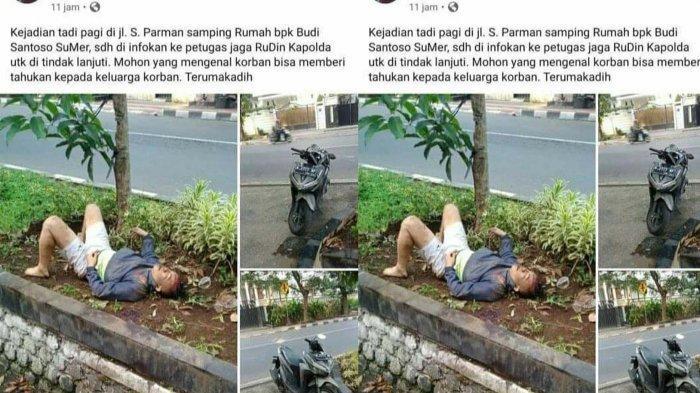 Viral Foto Korban Begal Tergeletak di Pinggir Jalan di Semarang, Ini Faktanya