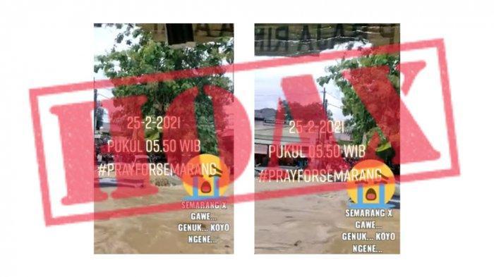 Tangkapan layar video hoaks banjir kaligawe semarang yang beredar.