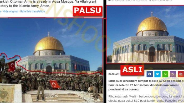 Hoax Tentara Turki Telah Berada di Masjid Al Aqsa Yerussalem