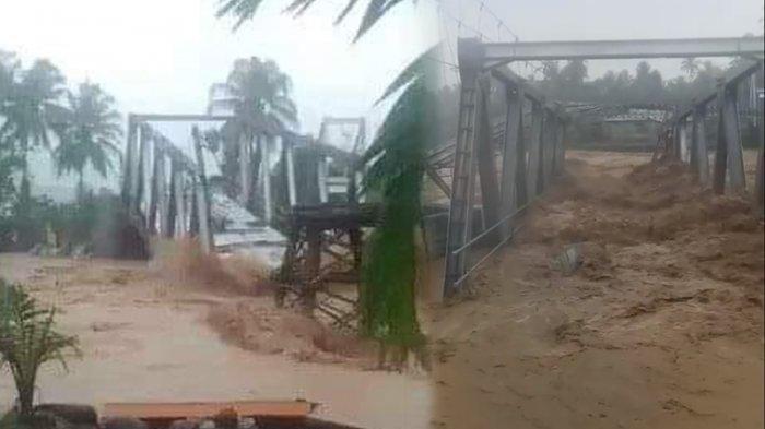 Banjir Bandang di Padang, 2 Orang Meninggal Dunia, Jembatan dan Rumah Hanyut