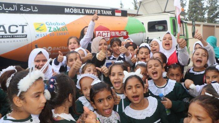 Humanity Water Tank ACT Bantu Kekeringan untuk Ribuan Warga di Palestina