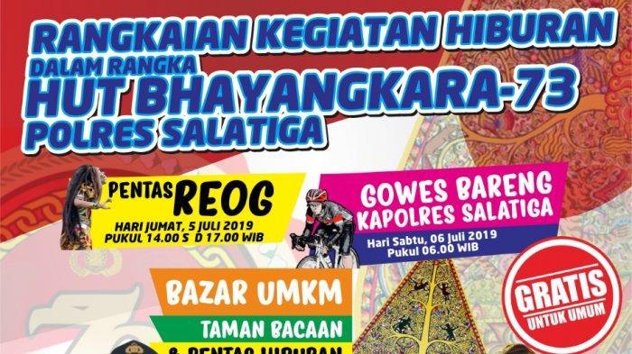 HUT Bhayangkara ke 73, Puncak Acara di Polres Salatiga Diisi Pagelaran Wayang Kulit