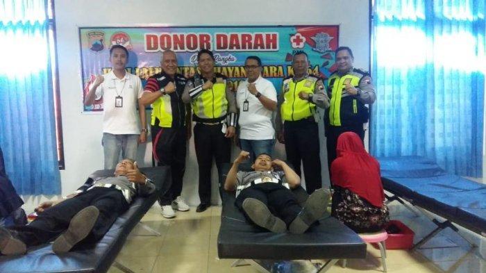 Peringati HUT ke 64 Polantas, Satlantas Polres Tegal Kota Lakukan Donor Darah