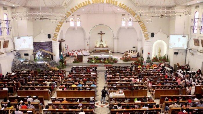 Perayaan Natal di Gereja Katedral Semarang Aman dan Lancar