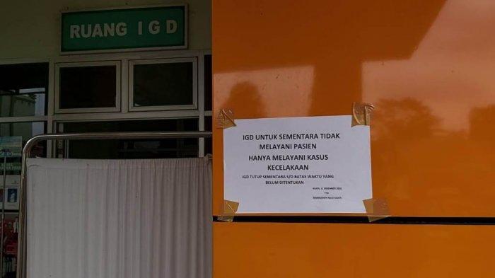 IGD RSUD Kajen ditutup sementara hingga batas waktu yang ditentukan