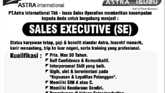 PT Astra - Isuzu Butuh Karyawan Handal