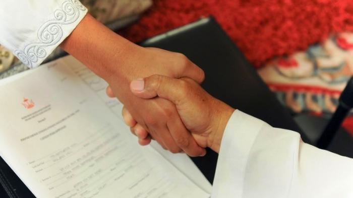 Wali Nikah dan Mempelai Wanita Positif Covid-19, Begini Cara KUA Sentolo Kulonprogo Gelar Akad Nikah
