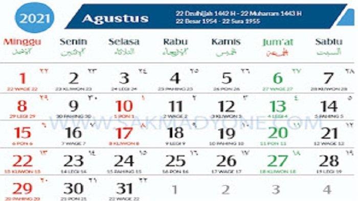 Hari Baik Bulan Agustus 2021 Berdasarkan Perhitungan Jawa, Tanggal 27 Hari Sangat Baik
