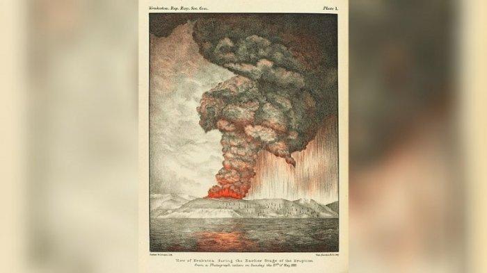 Pada Hari Ini 138 Tahun Lalu, Gunung Krakatau Meletus, Ini Cerita Kedahsyatannya
