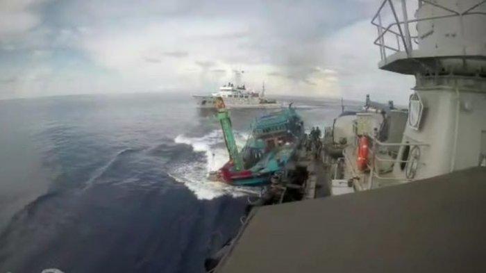 2 Kapal Vietnam Masuk Laut Indonesia Ditangkap TNI AL, Sempat Diwarnai Insiden Kejar-kejaran