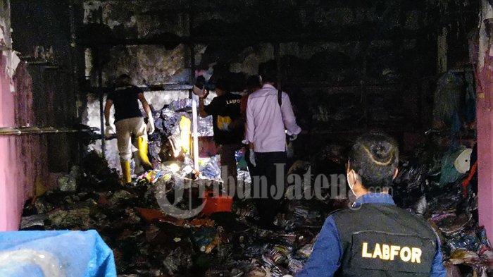 Sisa Konveksi Kebakaran Pasar Kliwon Kudus Akan Diobral