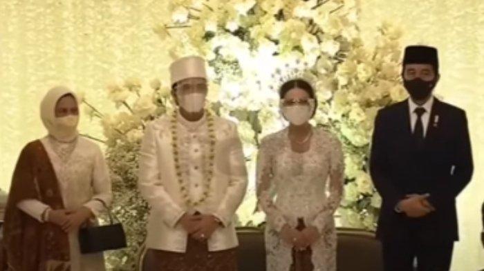 iriana dan Jokowi di akad nikah Atta Halilintar dan Aurel Hermansyah