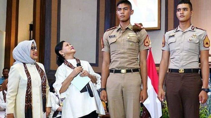 Iriana Jokowi Kaget Ketika Datang Taruna Akademi Angkatan Udara (AAU) Setinggi 1,9 Meter