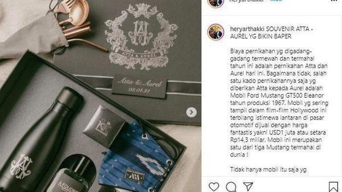 Penampakan Isi Souvenir Pernikahan Atta Halilintar dan Aurel Hermansyah
