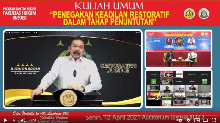 Jaksa Agung Dr ST Burhanuddin Berikan Kuliah Umum di FH Unsoed Purwokerto