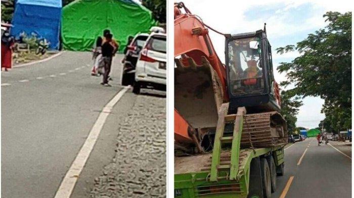 Viral Tenda Hajatan Tutup Jalan Provinsi Hingga Truk Tak Bisa Lewat