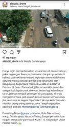 Kondisi Jalan Solo-Purwodadi Disebut Wisata Baru Jeglongan Sewu