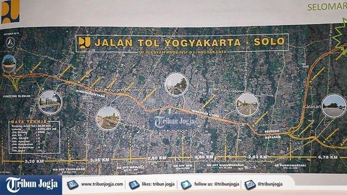 Inilah Penampakan Gambar Dan Penjelasan Trase Tol Yogyakarta Solo Harga Tanah Rp 2 5 Juta Per Meter Tribun Jateng