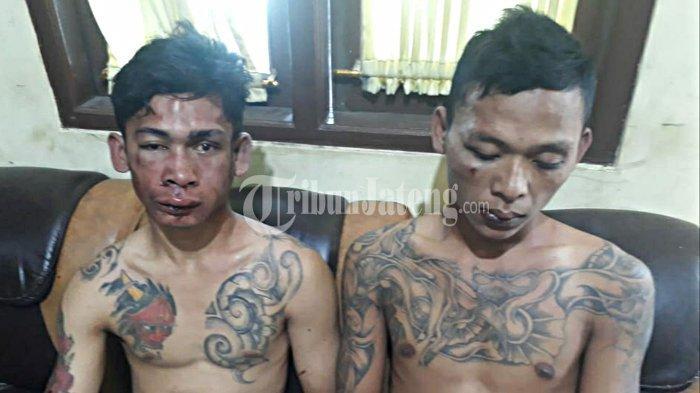 Wajah 2 Jambret Demak Dibikin Bonyok Warga Semarang di Teras Indomaret Monginsidi Genuk