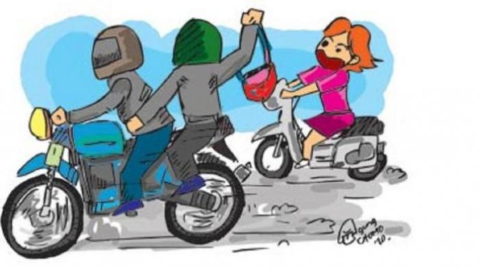 Nekat! Jambret Ini Rampas Tas Korban Saat Makan Bakso di Warung