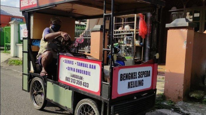 Usaha Kreatif Bengkel Sepeda Keliling di Purwokerto, Parman: Rejeki Itu Dijemput