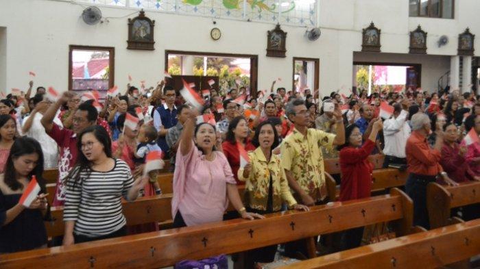 Rayakan Ulang Tahun RI, Jemaat Gereja Mater Dei Lampersari Gelar Ibadah Kemerdekaan