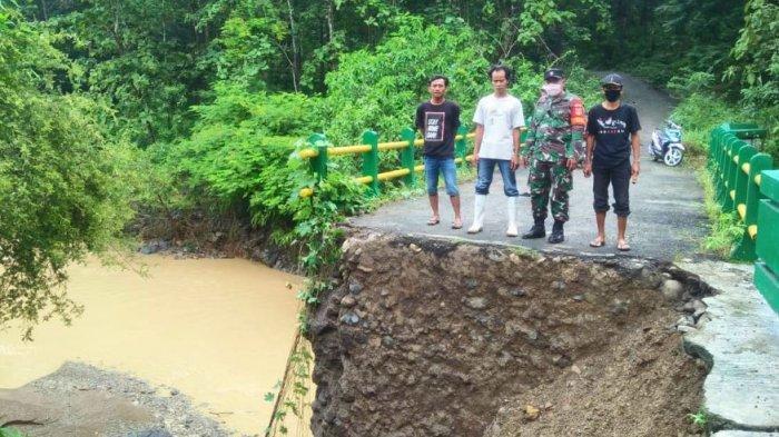 Pondasi Jembatan Amblas, Warga Desa di Kecamatan Randudongkal Pemalang Harus Memutar 65 Kilometer