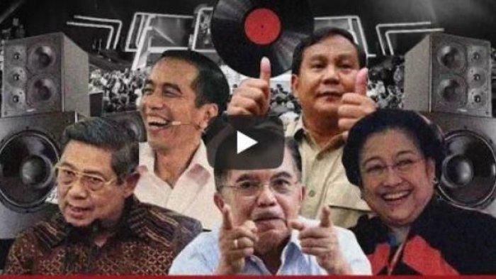 Wow! Jokowi, JK, Prabowo, Mega, SBY Kolaborasi 'Nyanyikan' Ini, Liriknya Menyentuh Banget
