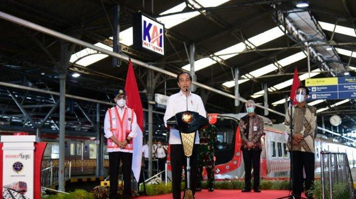 Jokowi Resmikan Kereta Pengganti Prameks, Ganjar: Nanti Sampai Stasiun Jebres Solo