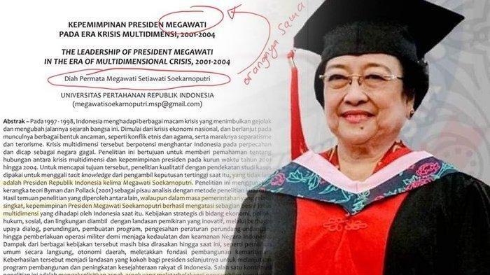 Jurnal Ilmiah untuk Gelar Profesor Megawati Disindir di Twitter, Ini Tanggapan PDIP dan Rektor Unhan