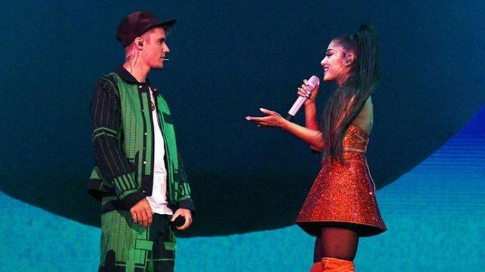 Not Angka Ariana Grande Justin Bieber Stuck with U Lengkap dengan Liriknya