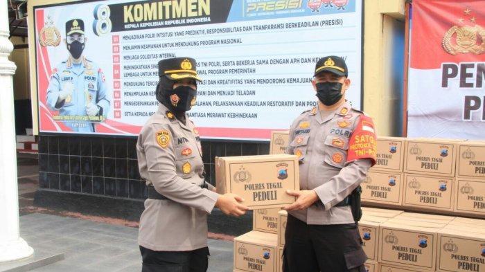 Polres Tegal Salurkan Zakat Profesi Sebanyak 500 Paket Sembako