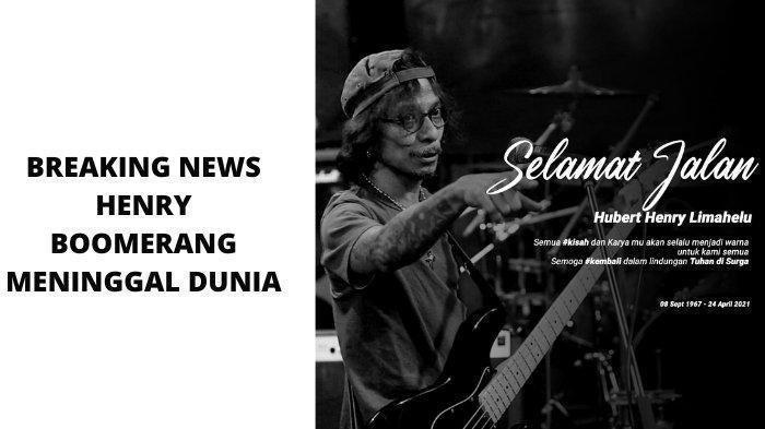 Kabar Duka, Hubert Henry Limahelu Bassist Boomerang Meninggal
