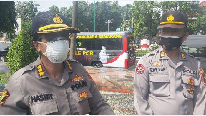 Kabiddokkes Polda Jateng Kombes Sumy Hastry Purwanti saat memberikan keterangan kepada Tribun Jateng sesuai memberi pelatihan pemulasaran jenazah Covid-19 kepada nakes dan relawan di Jepara.