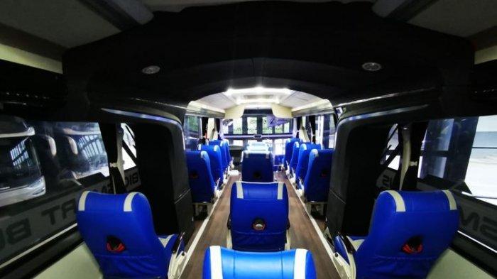 Kabin bus AKAP PO Sumber Alam