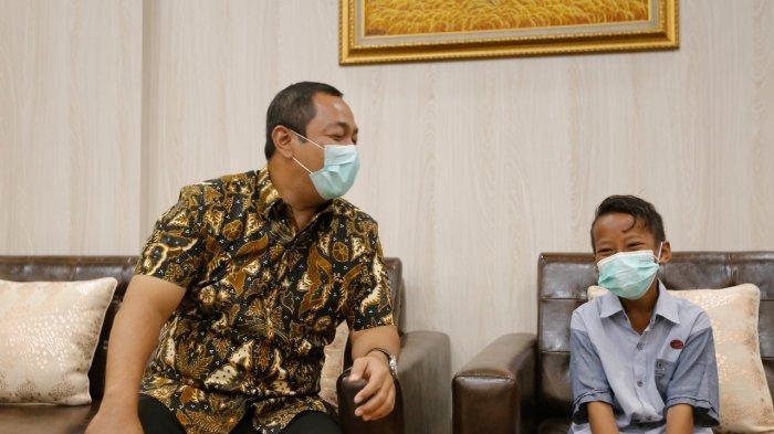 Kaka bertemu Walikota Semarang, Hendrar Prihadi di kantornya, Senin (29/3/2021).
