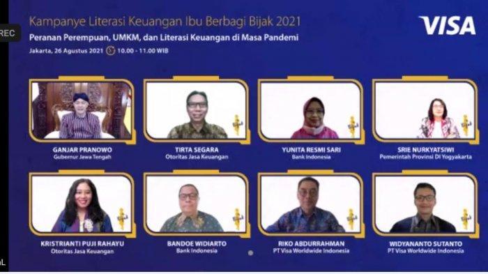 Tangkap layar kampanye literasi keuangan bagi perempuan dalam program #IbuBerbagiBijak, Kamis (26/8/2021).