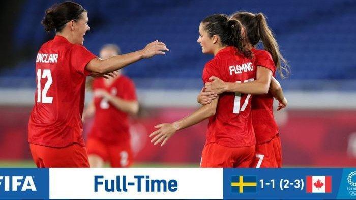 Hasil Final Sepak Bola Putri Olimpiade Tokyo 2020: Sinclair Antar Kanada Raih Emas Perdana