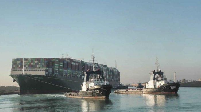 Terusan Suez Kembali Dibuka Setelah Kapal Ever Given Dibebaskan